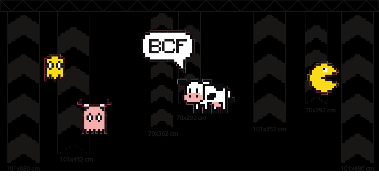 pictogrammes décoratifs pour la fête annuelle du personnel de la BCF