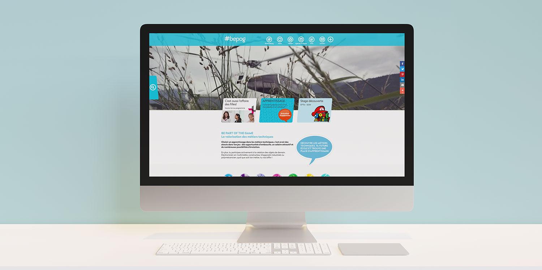 site internet du projet #bepog pour la promotion des métiers techniques auprès des jeunes