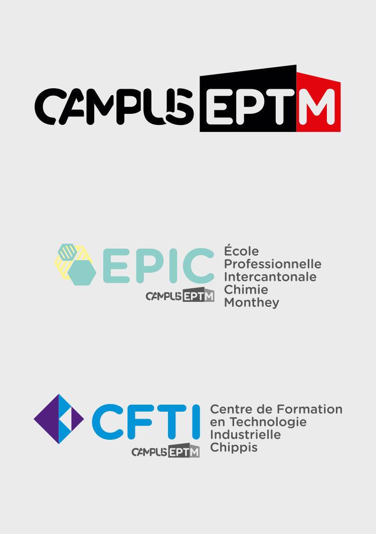 Logos des diverses branches du campus eptm