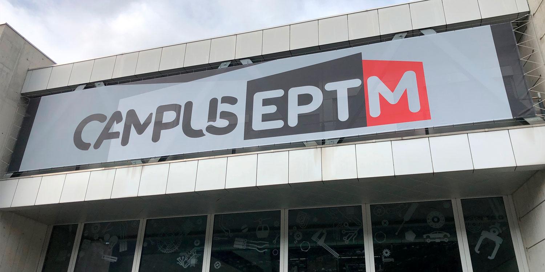 signalétique de l'entrée du Campus EPTM
