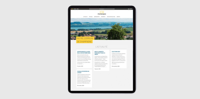 site internet de la commune de champagne