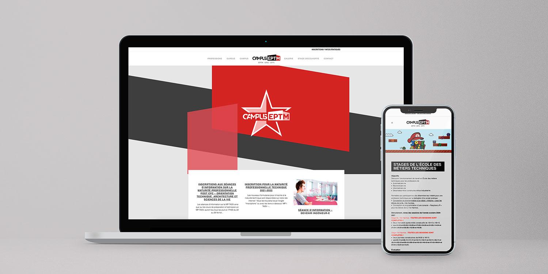 Site internet responsive pour le Campus EPTM