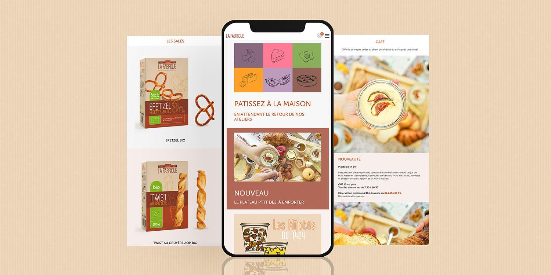 site internet de la marque La Fabrique à Champagne
