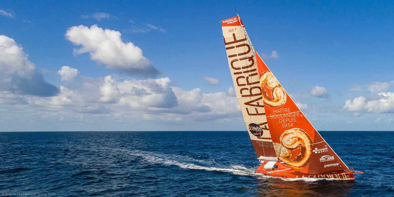 Bateau La Fabrique Sailing Team d'Alan Roura en 2020 pour le Vendée Globe