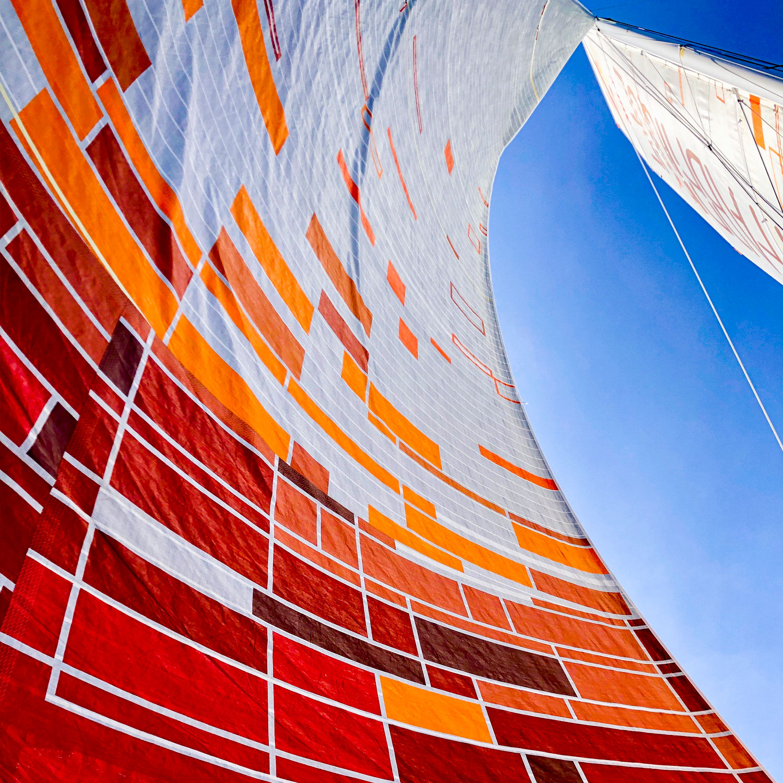 Voile du bateau d'Alan Roura de la Fabrique Sailing Team