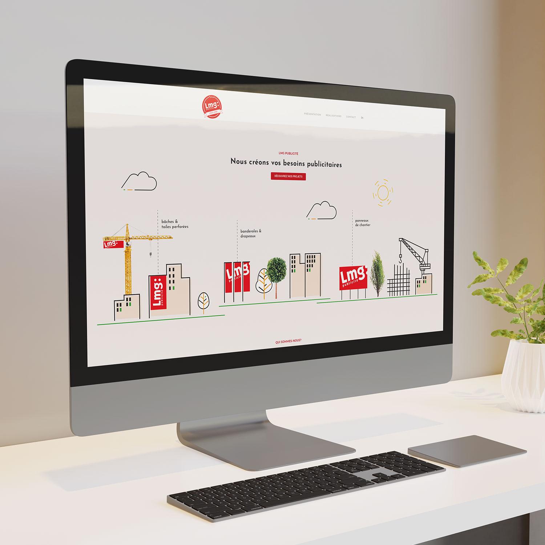 site internet pour l'entreprise LMG publicité à Yverdon-les-bains