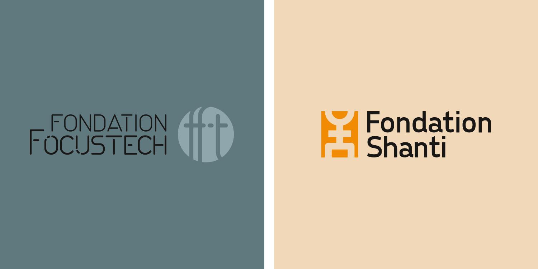logos fondation focustech et fondation shanti