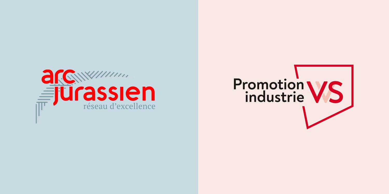 logos arc jurassien et promotion industrie vs