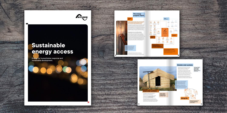 brochure de présentation de l'entreprise Studer