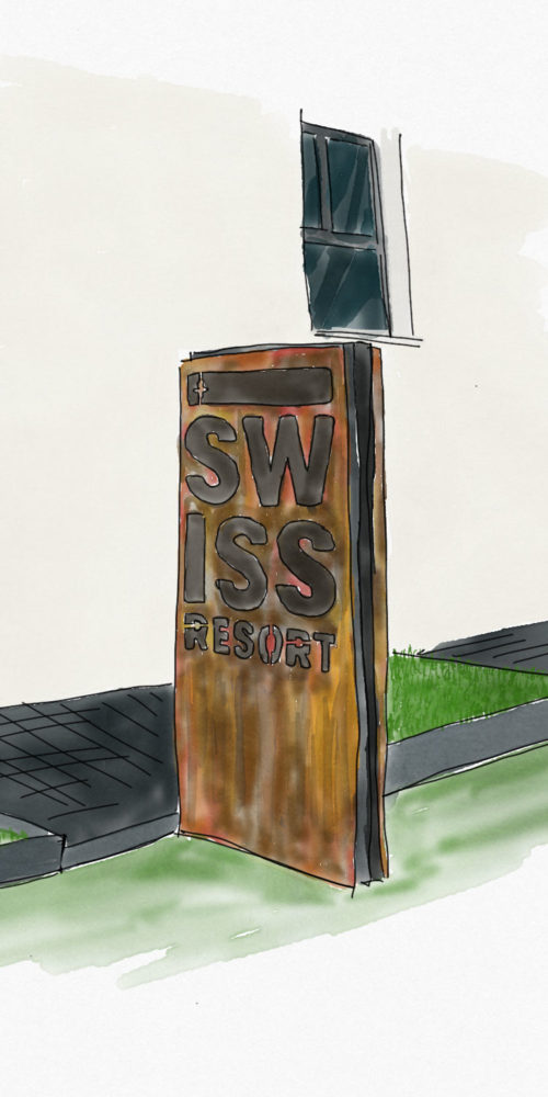 Signalétique extérieure pour l'hotel appart Swiss resort