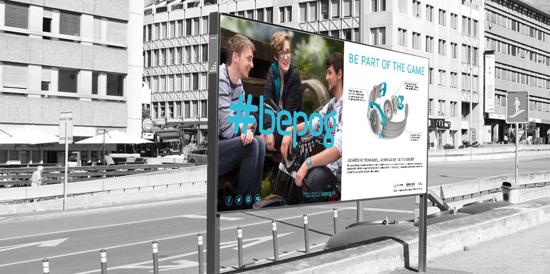 Campagne d'affichage pour la promotion des métiers techniques #bepog