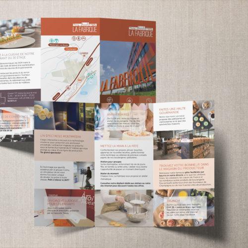 Flyer de présentation du bâtiment La Fabrique à Champagne
