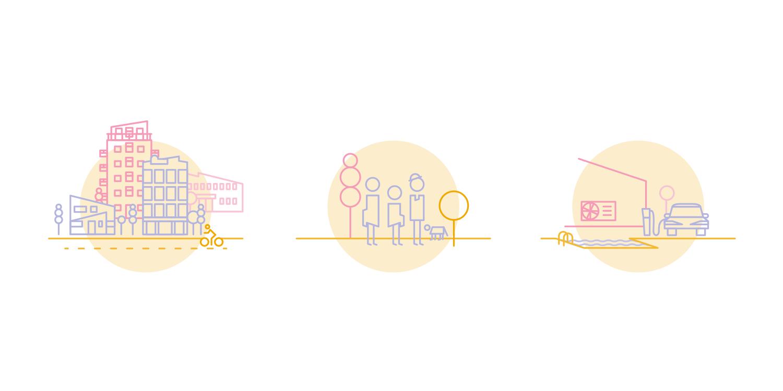 icônes d'illustrations du projet smartsuna