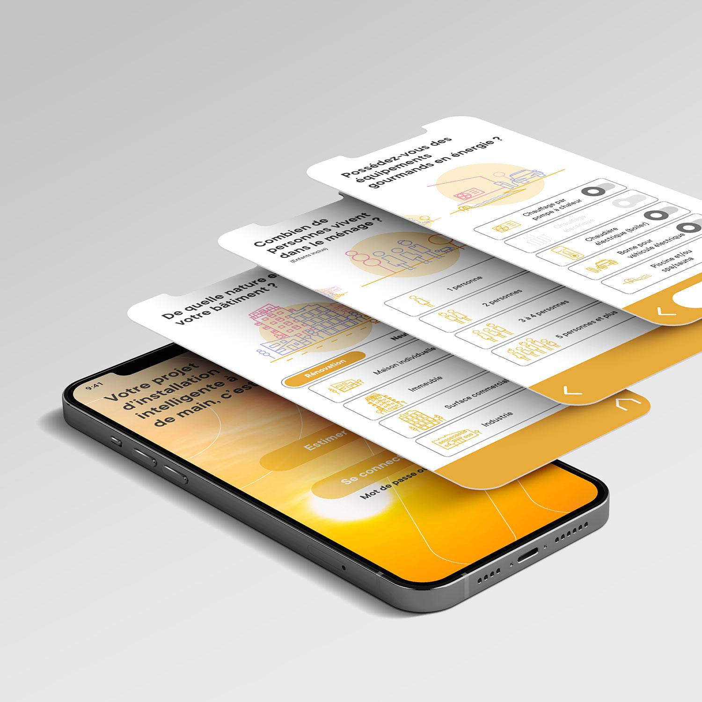capture d'écran de l'application mobile smartsuna